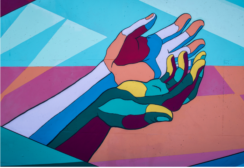 Multicolour Hands: A metaphor for inclusion